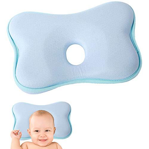 MEISHANG Babykissen Gegen Plattkopf,Baby Kissen Kopfverformung Plattkopf,Orthopädisches Babykissen,Babykissen Orthopädisches Baby Kissen,Baby-Kissen für Flachkopf-Syndrom