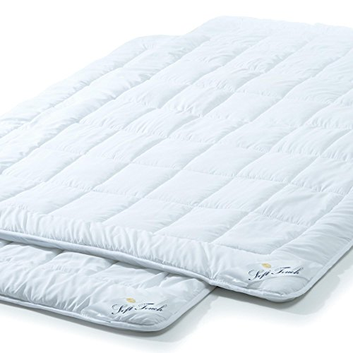 aqua-textil Soft Touch Ganzjahres Bettdecke 2er Set 135 x 200 cm Steppdecke atmungsaktiv Decke Winter Sommer