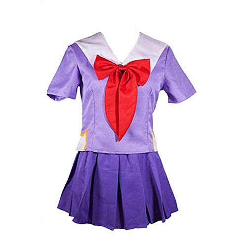 JLCYYSS 3 PCS Anime Future Diary Gasai Yuno Cosplay Disfraz Halloween Carnaval Marinero Falda Uniforme cómic Vestido Trajes para Mujeres Regalo