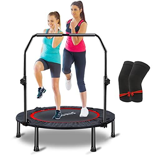CLORIS 101,6 cm faltbares Fitness-Trampolin, maximale Traglast 180 kg, Mini-Rebounder mit verstellbarem Schaumstoffgriff für Kinder und Erwachsene, Indoor-/Outdoor-Fitness-Körperübungen