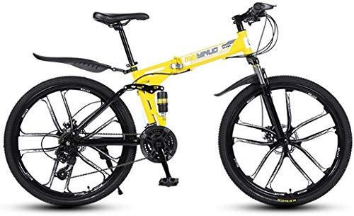 MAMINGBO 26 Pollici 27 velocità Mountain Bike for Adulti, Leggero Completa Sospensione Frame, Forcella della Sospensione, Freni a Disco, Colore: R 1 (Colore : Y 5)