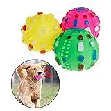 Haven shop Hundespielzeug, Gummi, Quietschball, konvexes Quietschspielzeug mit Geräuschen, für Hunde und Katzen, interaktives Kauen und Zähne