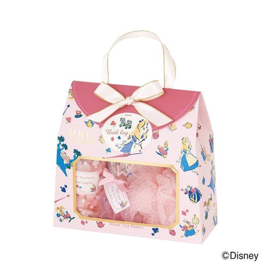 影響暖炉ブルディズニーフレグランスコレクション バスバッグト5点セット アリス ローズティーパーティー(爽やかでやさしいバラの香り)