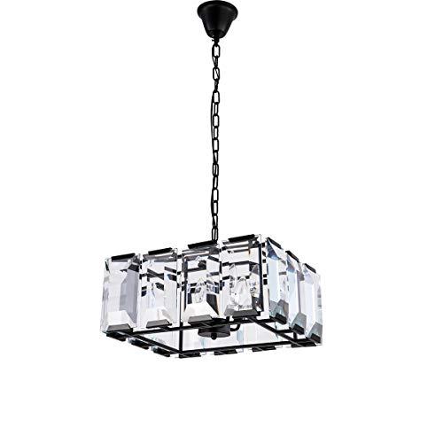 SGJFZD. Lampada a LED di Lusso Moderno/Contemporaneo Lampadario di Cristallo Luce di soffitto a Sospensione for Sala da Pranzo, Soggiorno (Color : Warm White, Dimensione : AC 220V)
