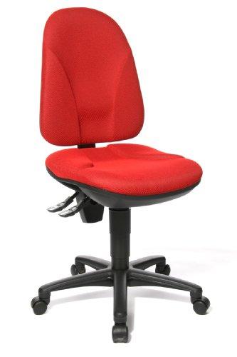 Topstar Point 35, Bürostuhl, Schreibtischstuhl, Rückenlehne höhenverstellbar, Bezugsstoff rot