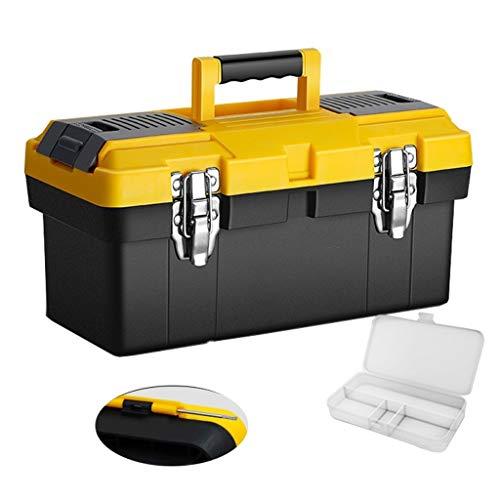 YAOLUU Cassetta degli Attrezzi Completa Blocco d'Acciaio Portatile Manuale Toolbox in Acciaio e Fibbia Portatile Strumento di Storage Box e Scatola di plastica Parti Attrezzi Professionali