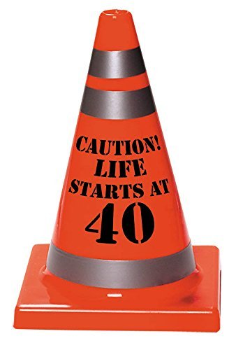 Xylsto 40th Birthday Plastic Cone (Orange) | PARTY-ACT-181