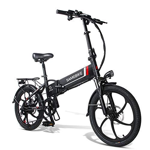 WFIZNB 20 Zoll E-Bike Pedelec E-Bike Klapprad klappfahrrad 48V 10.4Ah/ 36V 8AH Lithium Akku, 7-Gang Getriebe, Leicht und Praktisch,Schwarz