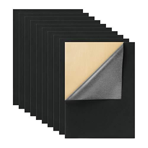 BENECREAT 12PCS Terciopelo Adhesivo (Gris Pizarra Oscuro) Tela Adhesiva Trasera Hoja de Terciopelo (40cmx29cm), Durable Y Resistente Al Agua, de Múltiples Fines, Ideal para Hacer Arte y Manualidades