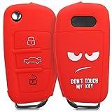 kwmobile Funda Compatible con Audi Llave de Coche Plegable de 3 Botones - Carcasa Protectora Suave de Silicona - Don't Touch my Key