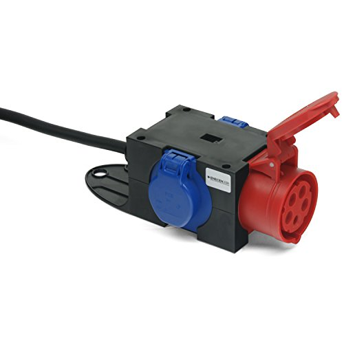 Kompaktverteiler ST.ANTON CEE-Stecker 400V/16A H07RN-F 5x1,5 mm² mit 1x400V/16A + 2x230V/16A IP44 1,5m