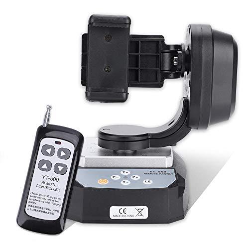 Topiky Motorisierter Schwenk Neigekopf, Professioneller 355 Grad 20m Fernbedienungs Adapter für Stativ DSLR Kamera,Telefon mit Stativkran und Kopfbefestigung Belastbar bis 500g/1.1lb