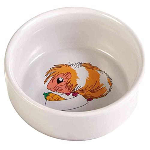 Trixie 6064 Keramiknapf mit Motiv, Meerschweinchen, 250 ml/ø 11 cm