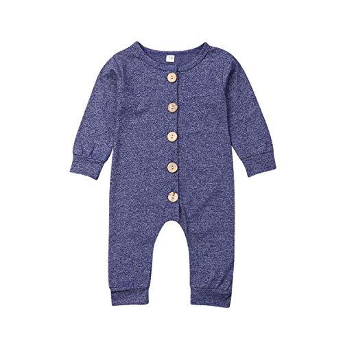Wide.ling Pasgeboren Baby Jongen Meisje RomperLange Mouw Effen Kleur HerfstBodysuit Jumpsuit Kleding Outfits