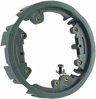 Hubbell-Raco 6244 Round Floor Box Non-Metallic Adapter Ring, Gray Finish