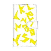 スマ通 Android One S3 国内生産 カード スマホケース 手帳型 SHARP シャープ アンドロイド ワン エススリー 【5-イエロー】 アルファベット q0004-e0260