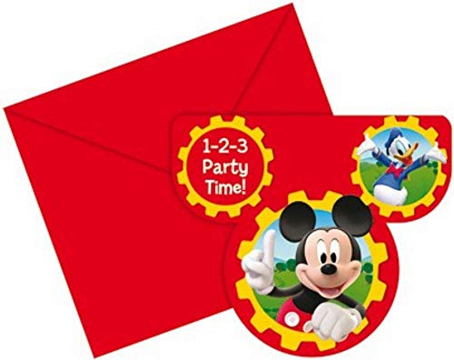 amscan - Tarjetas de invitación con diseño de Mickey Mouse