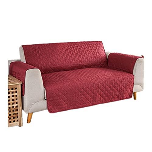 Mimosapud Couch Sitzkissen, Haustiere Hunde Sofa Matratze wasserdicht Wechselrichter Recliner Slipcover Möbelschutz 1/2/3 Sitz Sofamöbel-Set (Color : Red B, Specification : 1 seat(55x196cm))
