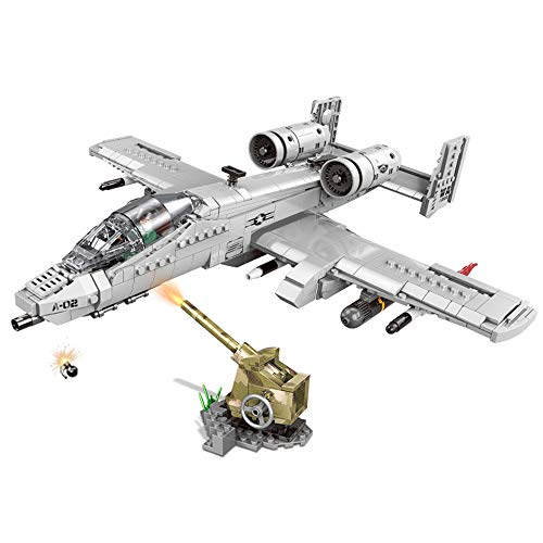 XINGBAO 06022 Military Army Series 961PCS The A10 Fighter Set Building Blocks Assembly Combat Aircraft Bricks Model Educational Blocks for Children Stem Toys