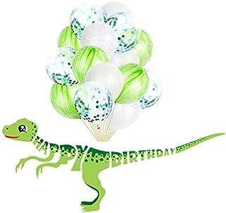 بالون زينة للحفلات 12 انش، بالون عيد ميلاد على شكل ديناصور للأطفال