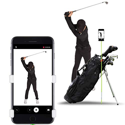 SelfieGOLF Record Golf Swing - Cell Phone Holder Golf Analyzer Accessories | Winner of The PGA Best Product | Selfie Putting Training Aids Works with Any Golf Bag and Alignment Stick