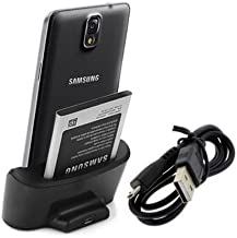 Negro Cargador Base Dock docking station Para Samsung Galaxy note 3 III N900 N9005 N9000