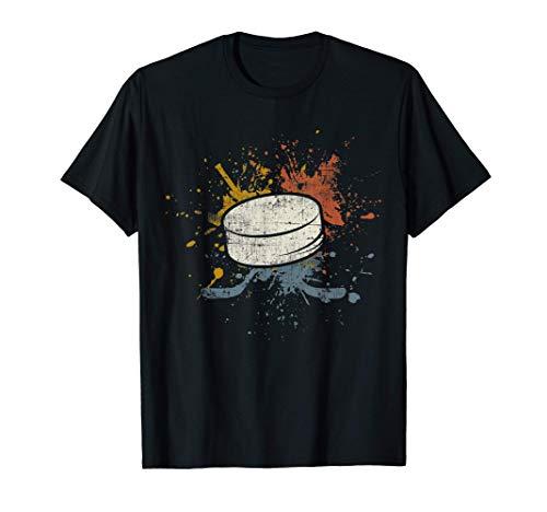 Eishockey Team Retro Ice Hockey Puck Eishockeyspieler T-Shirt