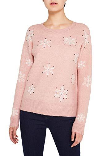 edc by ESPRIT Damen 119CC1I015 Pullover, Rosa (Old Pink 5 684), Small (Herstellergröße: S)
