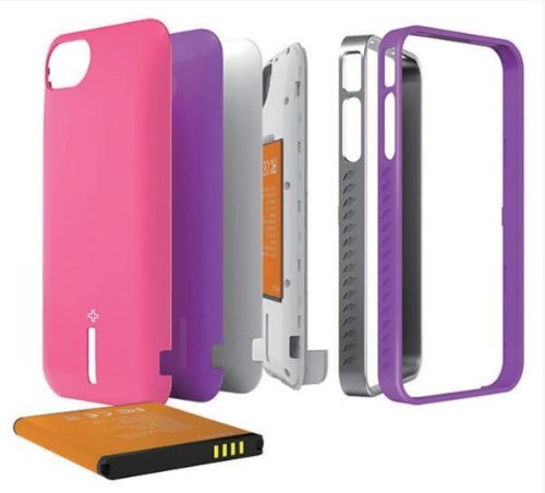 ibattz MOJO Vogue Removable Battery CASE for iPhone 4/4S (1700mAh X 2)