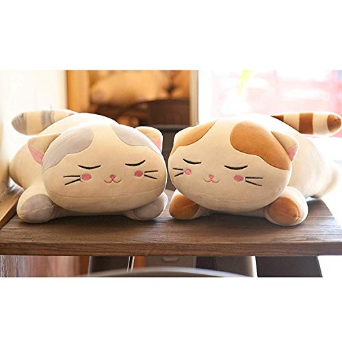 FONGFONG Géant Animal Chat en Peluche PP Coton Coussin Oreiller Farcies Peluche Soft Toy Cozy...