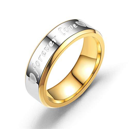 ERDING Fashion Cadeau/Romantisch voor altijd liefde Letter Ringen voor Liefhebbers Bruiloft Bands Engagement RVS Ring voor Vrouwen en Mannen Sieraden