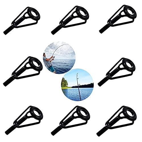 Anillo De Punta De Caña De Pescar 32 Piezas En 8 Tamaños Kit De Reparación De Caña De Pescar Kit De Reparación De Cañas De Pescar para Pesca En El Mar Guías De Caña Robustas Puntas Superiores