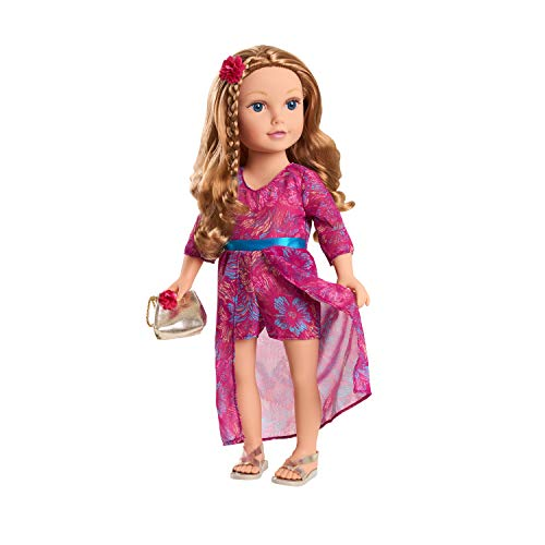 Journey Girls 18-Inch Mikaella Hand Painted Doll with Strawberry-Blonde Hair and Blue Eyes, Amazon Exclusive, by Just Play