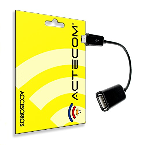 actecom® Cable Adaptador OTG A Micro Compatible para Samsung S4 S5 S6 S7 Edge Note 5 6