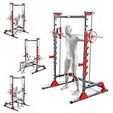 K-Sport: Máquina de smith – Dispositivo de entrenamiento de primera calidad I Movimiento guiado de la barra de pesas – Ejecución eficaz y correcta I Complemento óptimo para el banco de entrenamiento