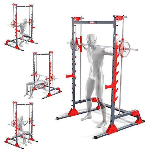 K-Sport: SMITH MACHINE – Attrezzo di prima qualità per l'allenamento a casa, movimento del bilanciere – esecuzione efficace e corretta, complemento ottimale per la panca di allenamento