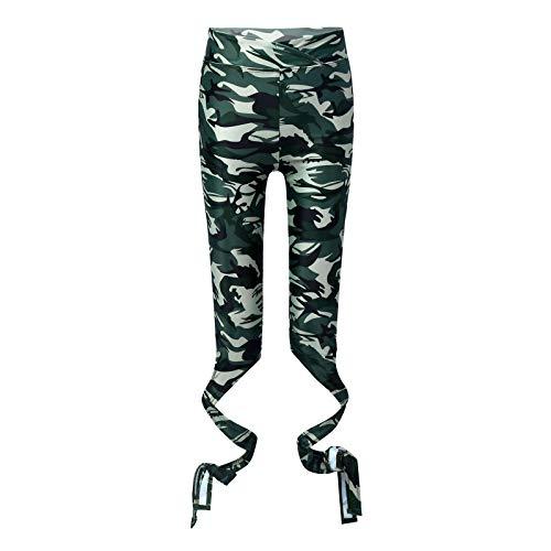 inlzdz Leggings Mallas Deportivos para Yoga Gym Gimnasia Pantalones Largos Elásticos Deporte Niñas Fitness Entrenamiento Chica Correr Verde 13-14 años