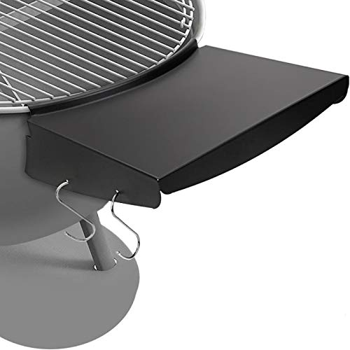 Denmay Grill Table Shelf for 57 cm Weber Master Touch & Original Kettle Charcoal Grills, Replaces Weber Grill Side Shelf, BBQ Table Folds to Store Inside Barbecue Grill, Kettle Charcoal Grill Parts