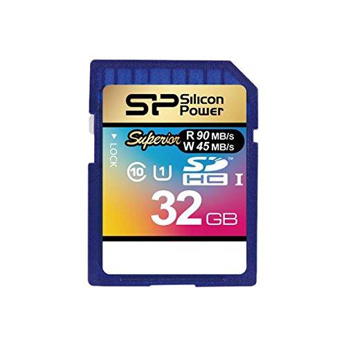 シリコンパワー SDHCカード 32GB class10 UHS-1対応 読込90MB/s 書込45MB/s アダプタ付  Superior 永久保証...