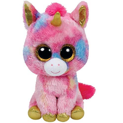 TY - Unicornio de peluche, 23 cm, color rosa (37041TY) , color/modelo surtido