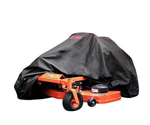 Tough Cover Zero-Turn Mower Cover. Heavy Duty 600D Marine Grade Fabric. Universal Fit Lawn Mower Covers. Protects Against Water, UV, Dust, Dirt, Wind for Outdoor Protection. Zero Turn Accessories.