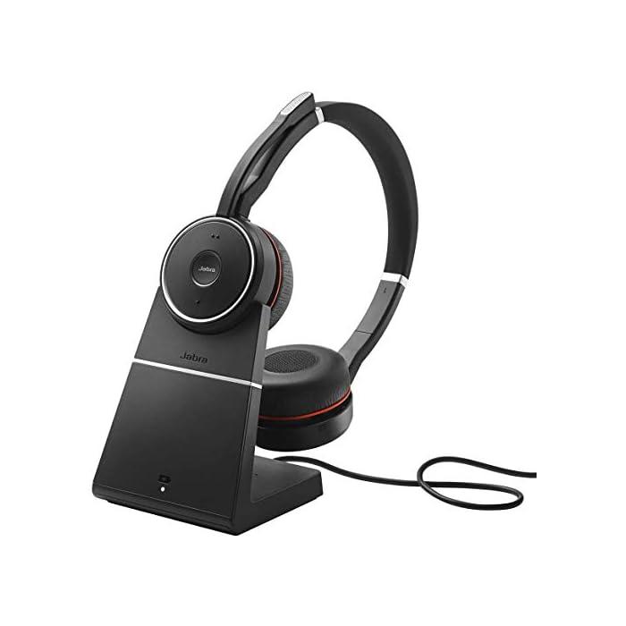 Casque Jabra EVOLVE 75 MS - Sans fil - Bluetooth - 40 mm - Stéréo - Sur tête - Design Circumaural - Portée 30,5 m…