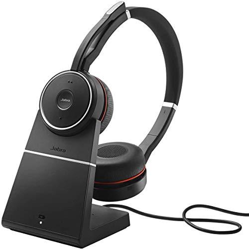 Casque Jabra EVOLVE 75 MS – Sans fil – Bluetooth – 40 mm – Stéréo – Sur tête – Design Circumaural – Portée 30,5 m…