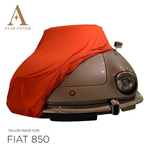 Telo COPRIAUTO da Interno su Misura per Fiat 850 Spider Rosso GARAGECOVER vestibilità Perfetta E Cover su Misura Consegna Rapida