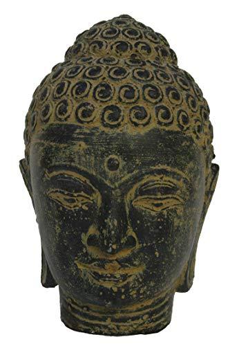 STONE art & more Buddha-Kopf, 20 cm, Steinfigur, Steinguss, frostfest