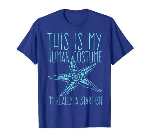 Funny Shirt This Is My Human Costume I'm Really A Starfish - Disfraz de estrella de mar Camiseta