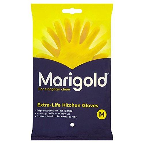 MARIGOLD Medium 1 x 6 Pairs Extra Life Kitchen Glove
