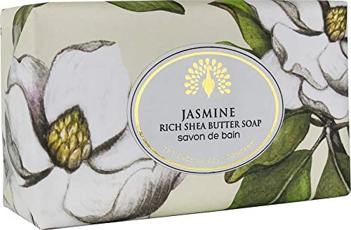 The English Soap Company, Vintage Wrapped Shea Butter Soap, Jasmine, 200g