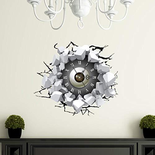 FPRW Creatieve 3D Muursticker Muurklok, Woonkamer Decoratieve muursticker Zelfklevende Diy Klok, Type 2