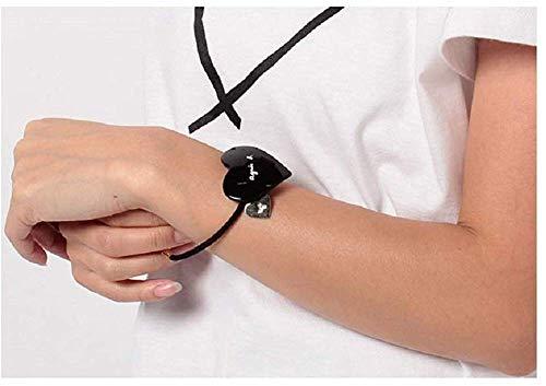 agnèsb.HA03-01ハートモチーフヘアゴムヘアアクセブレス(ブラック)